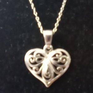 Sterling Silver Heart Pendant. 925 Sterling Heart.